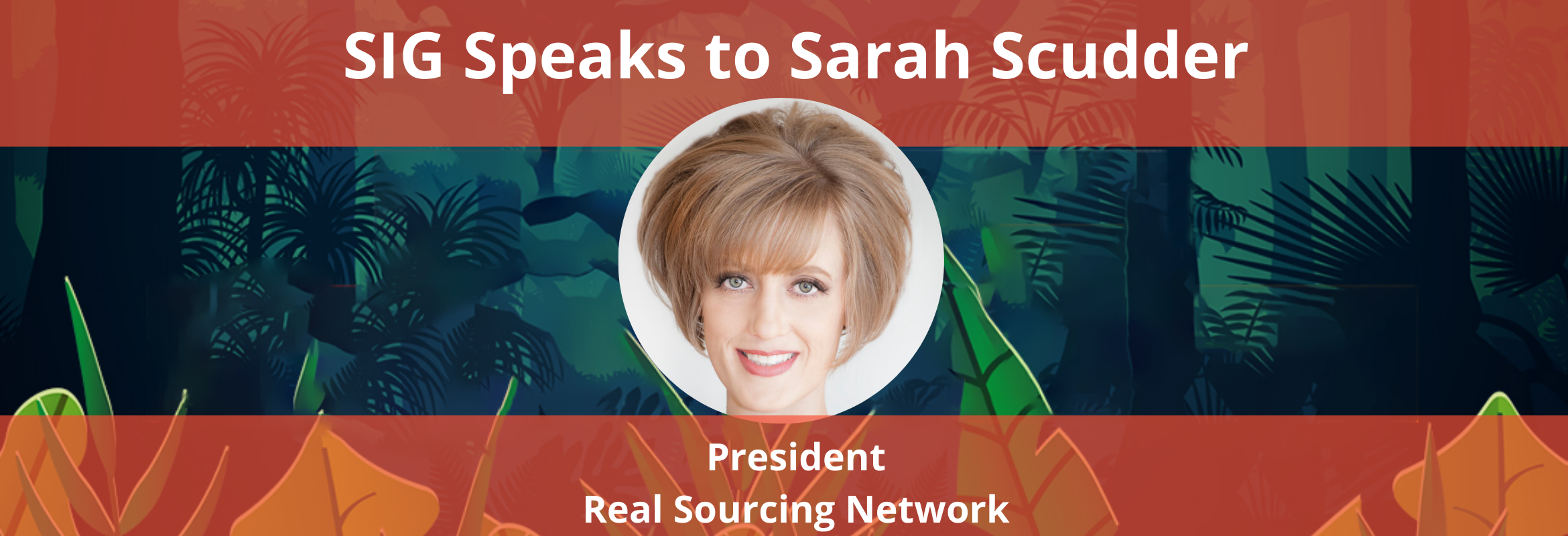 Sarah Scudder will present at the SIG Procurement Technology Summit