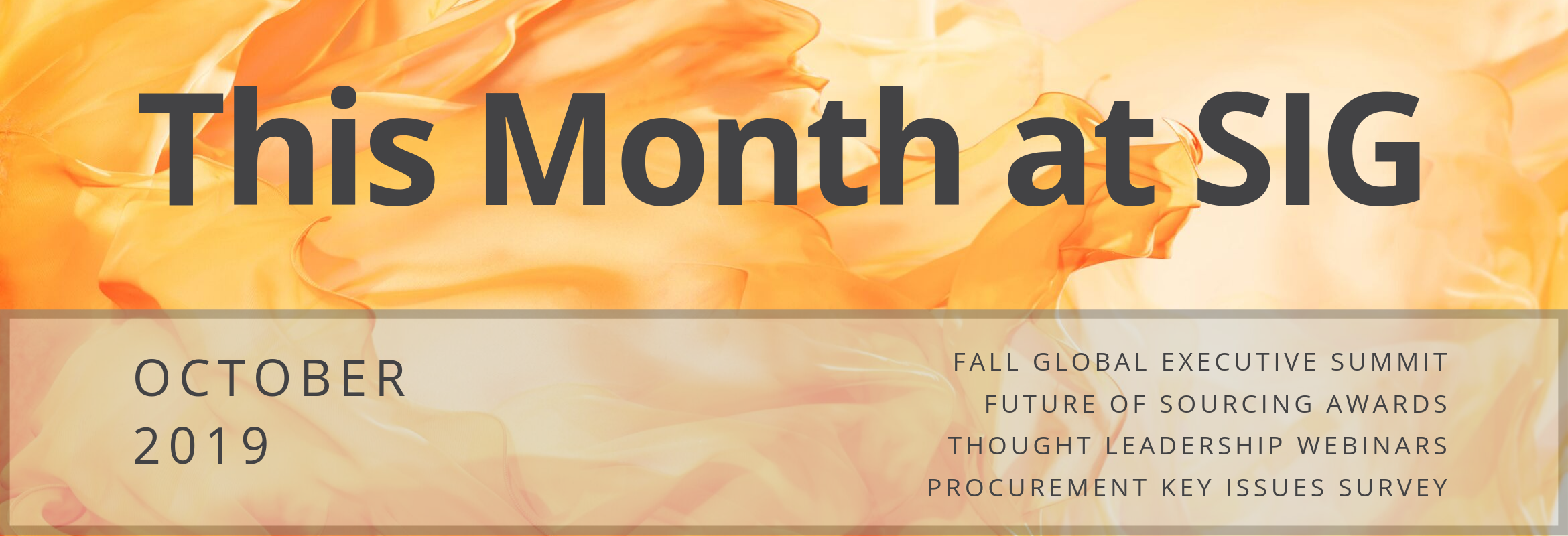 October Events at Sourcing Industry Group