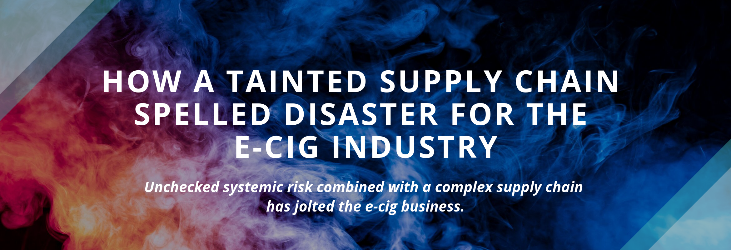 e-cigarette supply chain