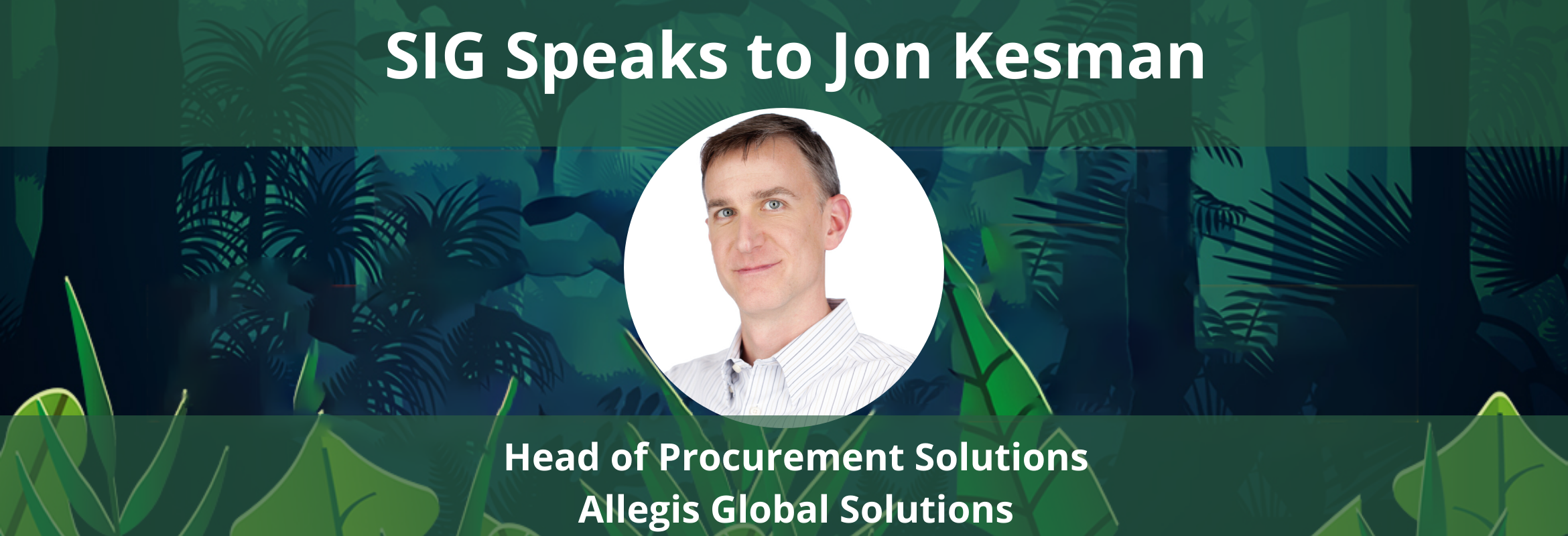 Jon Kesman presents at the SIG Procurement Technology Summit