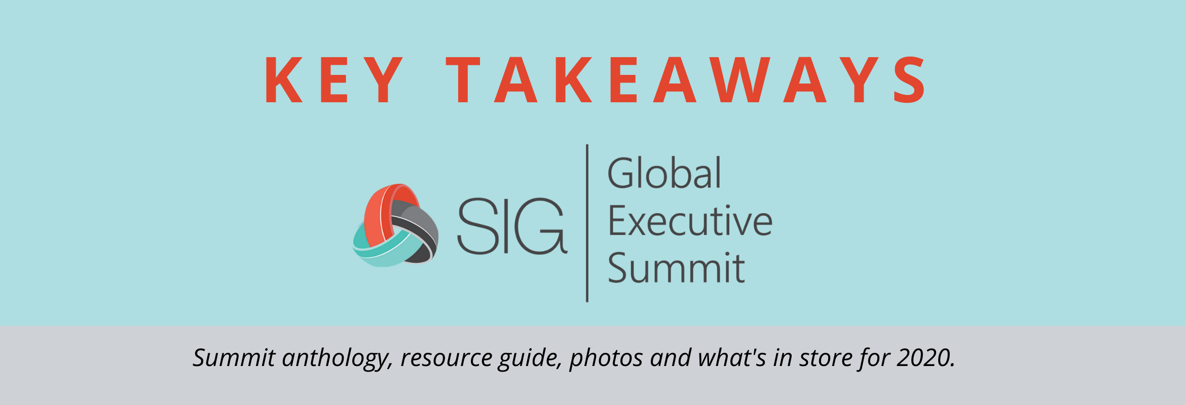 Key takeaways and resources for sourcing and procurement professionals from SIG's Fall Global Executive Summit