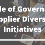 The supplier community plays an integral role in improving enterprise diversity standing.